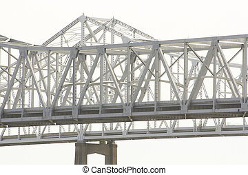 El puente del río Mississippi en los nuevos orleanos, Louisiana
