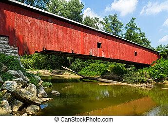 El puente rojo de Indiana