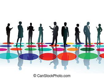 El punto de reunión de empresarios