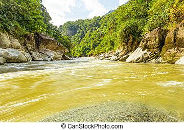 El río Pastaza en Ecuador