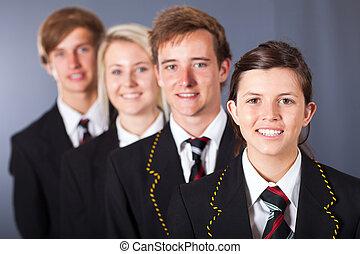 El retrato de los estudiantes de secundaria