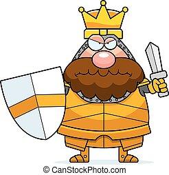 El rey de las caricaturas enojado