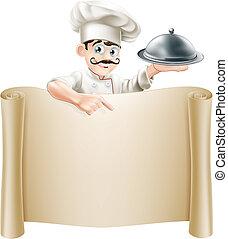 El rollo del menú del chef