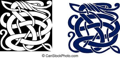 El símbolo celta complejo es genial para el tatuaje. Vector.