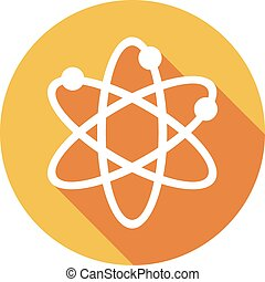 El símbolo de átomo es icono plano