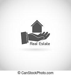 El símbolo de bienes raíces