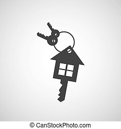 El símbolo de bienes raíces Vector