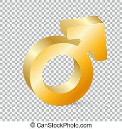 El símbolo de género dorado