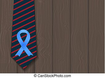 El símbolo de la cinta azul del concepto de cáncer de próstata del mundo. El concepto de atención médica. Vector Ilustratio