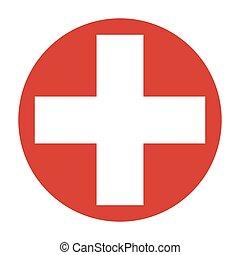 El símbolo de la cruz de la medicina