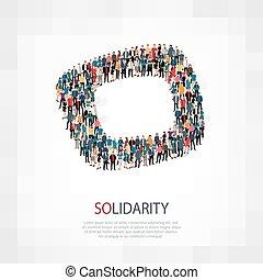 El símbolo de la gente de solidaridad
