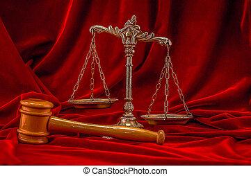 El símbolo de la ley y la justicia