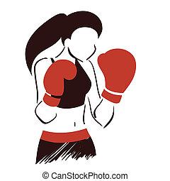 El símbolo de la mujer del boxeo