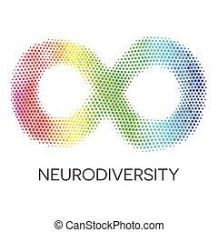 El símbolo de la neurodiversidad. Arcoíris infinito.