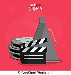 El símbolo de la película de clapper