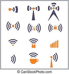 El símbolo de la red inalámbrica
