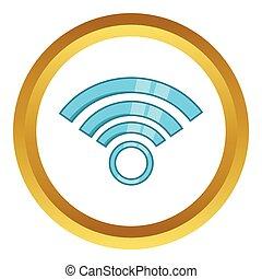 El símbolo de la red inalámbrica vector icono