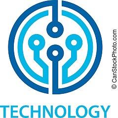 El símbolo de la tecnología de circuito electrónico