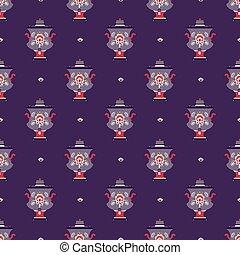 El símbolo de la tetera rusa sin costura