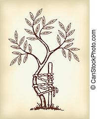 El símbolo de ortopédicos y traumatología.