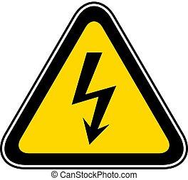 El símbolo de peligro de alerta triangular