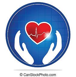 El símbolo de protección del corazón humano