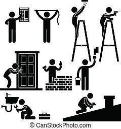 El símbolo de reparaciones de Handyman