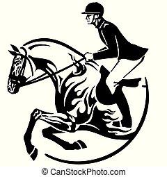 El símbolo de salto de caballo