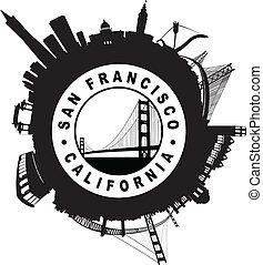 El símbolo de sello circular de San Francisco