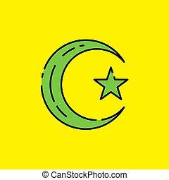 El símbolo del ícono del Islam