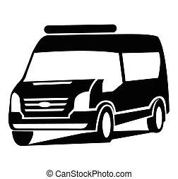 El símbolo del auto de Van