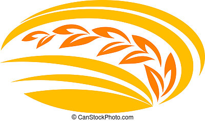 El símbolo del cereal de trigo
