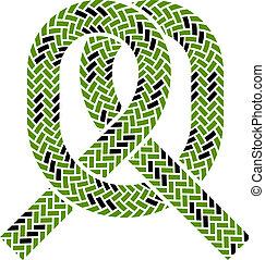 El símbolo del nudo de la cuerda de vector