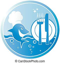 El símbolo del plato de pescado