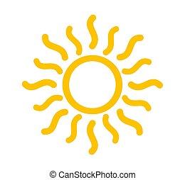 El símbolo del sol amarillo.