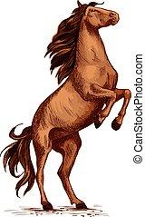 El símbolo del vector de caballos salvaje