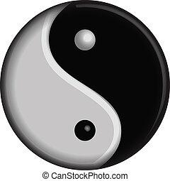 El símbolo del vector Yin yang