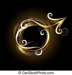 El símbolo dorado de Marte