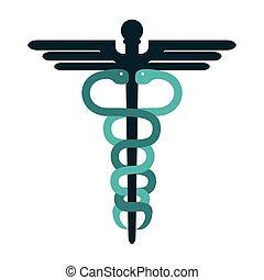 El símbolo médico Caduceus