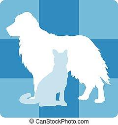 El símbolo médico veterinario