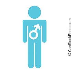 El símbolo masculino silpuette icono