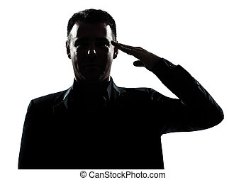 El saludo del ejército de Silueta