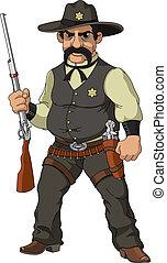 El Salvaje Oeste. Sheriff Cartoon