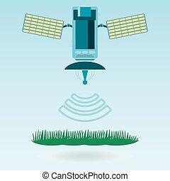 El satélite y las comunicaciones por satélite con las células solares