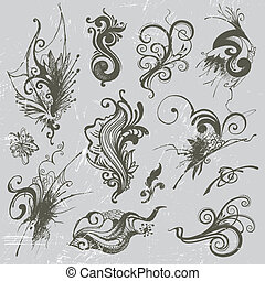 El sector de los elementos dibujados a mano