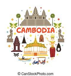 El sello de atracción de Camboya