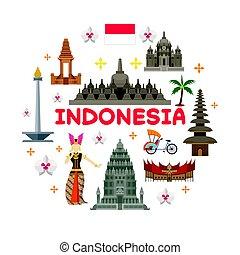 El sello de atracción de Indonesia