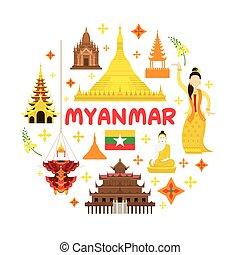 El sello de atracción de Myanmar