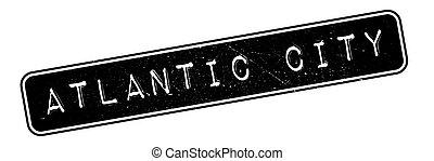 El sello de caucho de Atlantic City