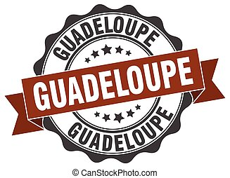 El sello de cinta redonda de Guadalupe